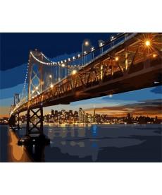 Картина по номерам Ночной Сан-Франциско 40 х 50 см (BK-GX8127)