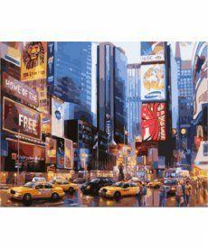 Картина по номерам Нью-Йорк. Таймс Сквер 40 х 50 см (BK-GX8136)