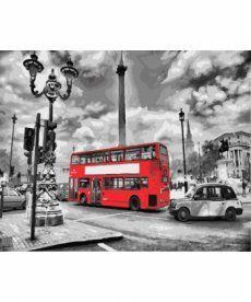 Картина по номерам Лондонский автобус 40 х 50 см (BK-GX8246)