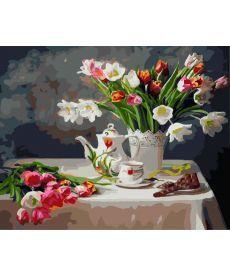 Картина по номерам Весенний натюрморт 40 х 50 см (BK-GX8391)