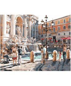 Картина по номерам Рим Фонтан Треви 40 х 50 см (BK-GX8557)