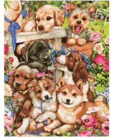 Картина по номерам Озорные щенки 40 х 50 см (BK-GX8728)