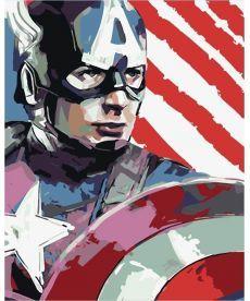 Картина по номерам Капитан Америка 40 х 50 см (BK-GX8735)