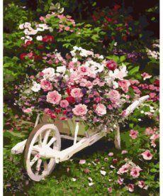 Картина по номерам Розовый куст 40 х 50 см (BK-GX8847)