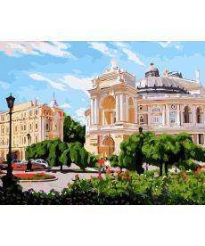Картина по номерам Одесса. Оперный театр летом 40 х 50 см (BK-GX8851)