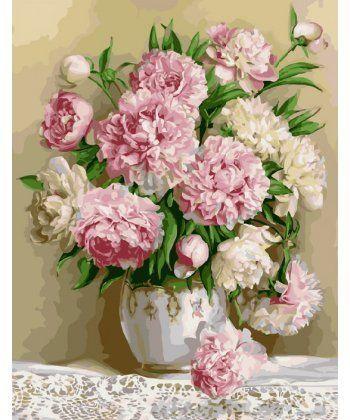 Картина по номерам Роскошные пионы 40 х 50 см (BK-GX8855)