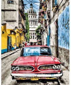 Картина по номерам Винтажное авто в старой Гаване 40 х 50 см (BK-GX8934)