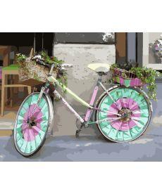 Картина по номерам Велосипед цветочницы 40 х 50 см (BK-GX8939)