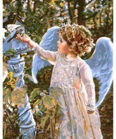 Картина по номерам Маленький Серафим 40 х 50 см (BK-GX8961)