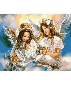 Картина по номерам Ангелы на небесах 40 х 50 см (BK-GX8963)