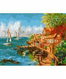 Картина по номерам Рыбацкий причал 40 х 50 см (BK-GX8964)