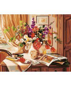 Картина по номерам Букет на комоде 40 х 50 см (BK-GX8970)