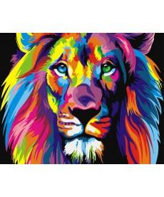 Картина по номерам Радужный лев 40 х 50 см (BK-GX8999)