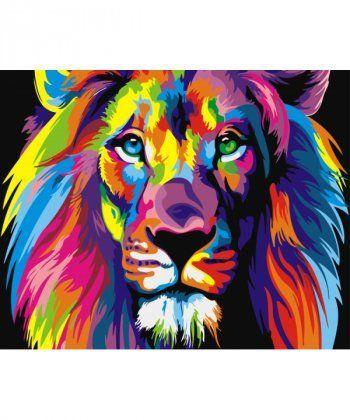 Картина по номерам Радужный лев 40 х 50 см (BK-GX8999)  - Фото 1