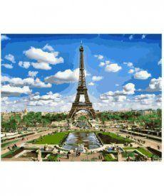 Картина по номерам Эйфелева башня весной 40 х 50 см (BK-GX9011)