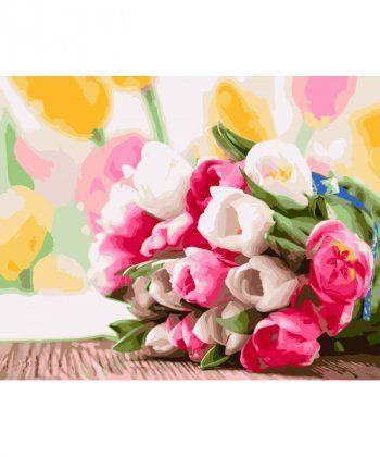 Картина по номерам Букет тюльпанов 40 х 50 см (BK-GX9193)  - Фото 1