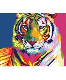 Картина по номерам Тигр поп-арт 40 х 50 см (BK-GX9203)