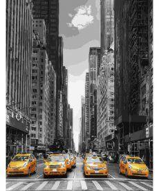 Картина по номерам Такси Нью-Йорка 40 х 50 см (BK-GX9386)