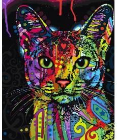 Картина по номерам Абиссинская кошка 40 х 50 см (BK-GX9868)