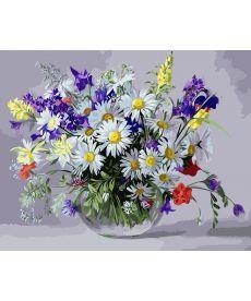 Картина по номерам Вазочка полевых цветов 40 х 50 см (BK-GX9890)