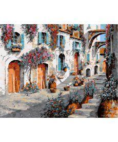 Картина по номерам Сказочная улочка 40 х 50 см (BK-GX9943)