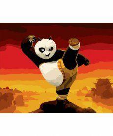 Картина по номерам Панда кунг-фу 40 х 50 см (BK-GX9970)