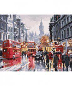 Картина по номерам Лондон Автобусы ночного города 40 х 50 см (BRM21871)