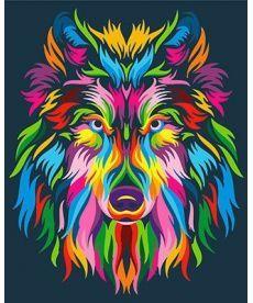 Картина по номерам Радужный волк 40 х 50 см (BRM23828)