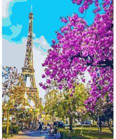 Картина по номерам Париж. Цветение вишни 40 х 50 см (BRM3777)
