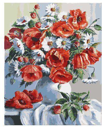 Картина по номерам Маки и ромашки 40 х 50 см (BRM3812)  - Фото 1
