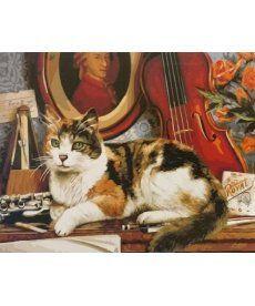 Картина по номерам Кот и скрипка 40 х 50 см (BRM4137)