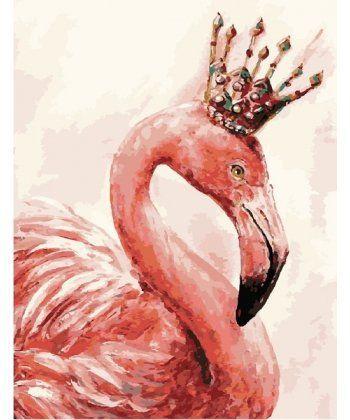 Картина по номерам Королевский фламинго 40 х 50 см (BRM4352)  - Фото 1