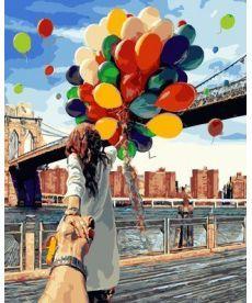 Картина по номерам Следуй за мной. Бруклинский мост 40 х 50 см (BRM4371)
