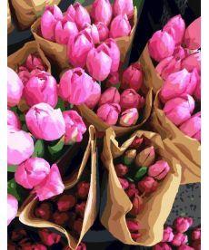 Картина по номерам Продавец тюльпанов 40 х 50 см (BRM7520)
