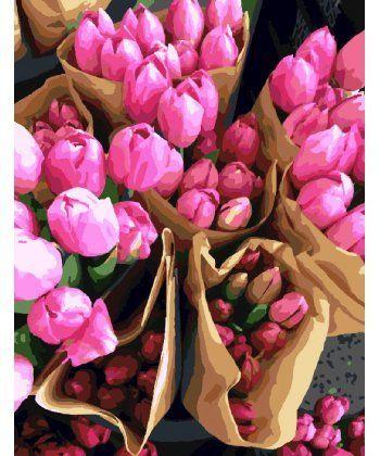 Картина по номерам Продавец тюльпанов 40 х 50 см (BRM7520)  - Фото 1