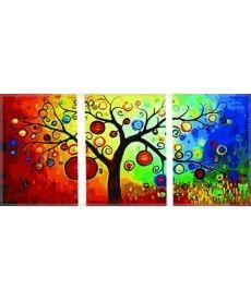 Картина по номерам Триптих. Денежное дерево Триптих 50 х 150 см (DZ3011)