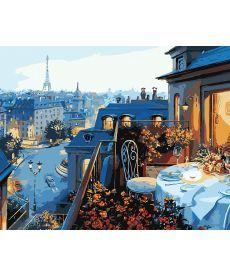 Картина по номерам Парижский балкон 40 х 50 см (KH1107)