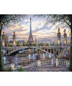 Картина по номерам Воспоминание о Париже 40 х 50 см (KH1148)