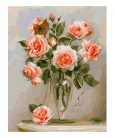 Картина по номерам Кораловые розы 40 х 50 см (KH2034)