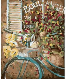 Картина по номерам Французский велосипед 40 х 50 см (KH2045)
