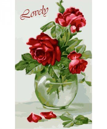 Картина по номерам Чувственные розы 30 х 50 см (KH2091)