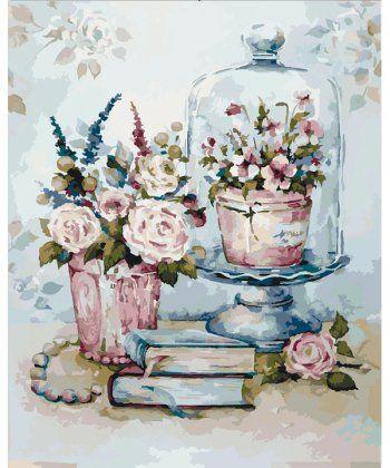 Картина по номерам Бирюзовый натюрморт 40 х 50 см (KH2096)