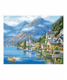 Картина по номерам Альпийская деревня 40 х 50 см (KH2143)