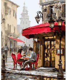 Картина по номерам Лондонское кафе  40 х 50 см (KH2144)