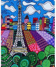 Картина по номерам Облака над Парижем 40 х 50 см (KH2165)