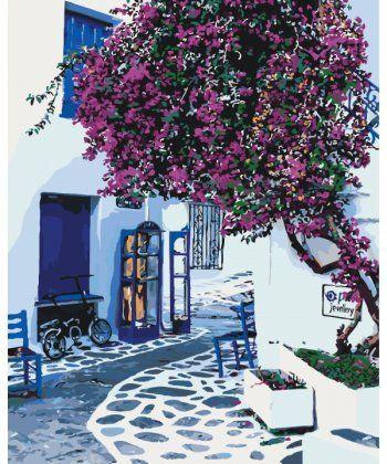 Картина по номерам Солнечная Греция 40 х 50 см (KH2168)