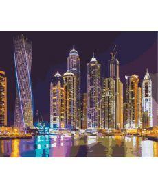 Картина по номерам Ночной Дубай 40 х 50 см (KH2184)