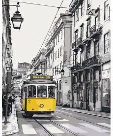 Картина по номерам Жёлтый трамвайчик 40 х 50 см (KH2187)