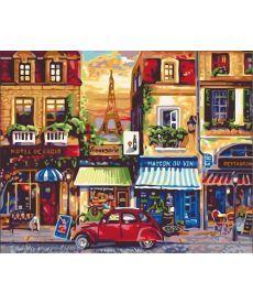 Картина по номерам Улочки Парижа 40 х 50 см (KH2189)