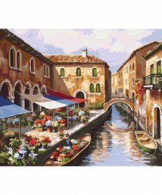 Картина по номерам Цветочный рынок 40 х 50 см (KH2191)